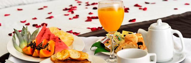 Café da manhã no Grand Oca Maragogi