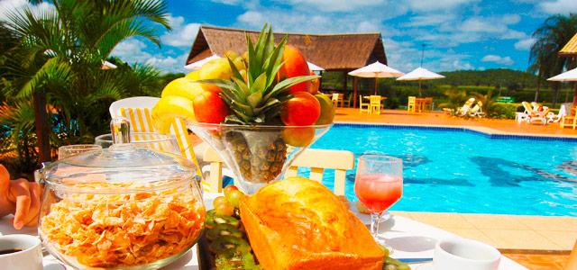 Café da manhã no Zagaia Eco Resort, incluso na tarifa Zarpo