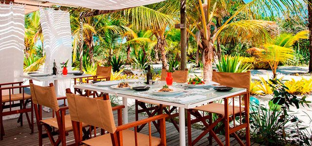 Restaurante do Vila Naiá, em Corumbau