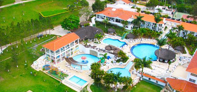 Vista aérea do Vale Suiço Resort, em Itapeva