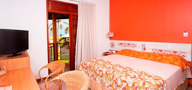 Aruanã Eco Praia Hotel - Acomodações que lembram pequenos refúgios