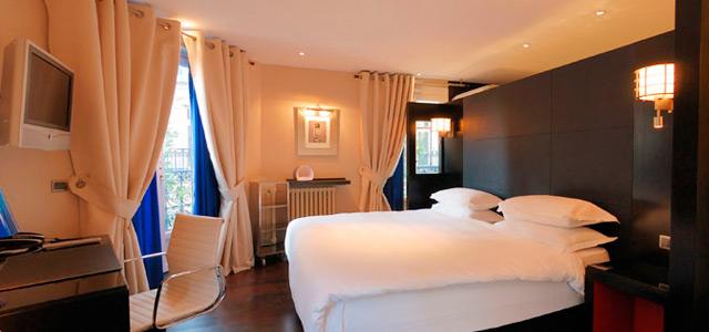 Decoração sofisticada do Mon Hotel garantirá uma lua de mel em Paris perfeita!