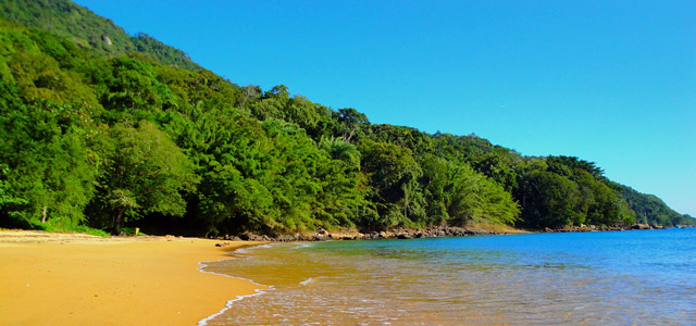 Há praias do Guarujá que são preservadas para manter suas belezas