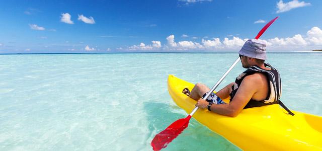 Banana bolt, windsurf, jetski...coisas para fazer não faltarão nas Ilhas Maldivas