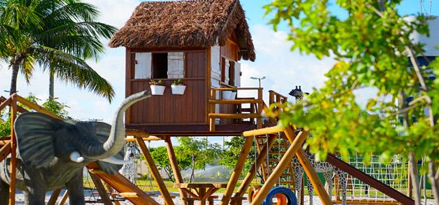 Confira a espetacular área de lazer do Mussulo Resort.