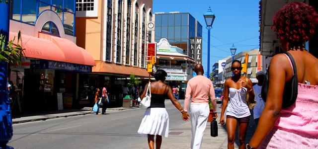 Broad Street para as compras em Barbados