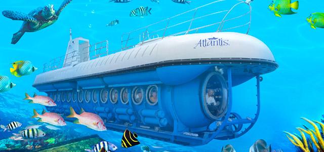 Passeio no Atlantis Submarine, Barbados