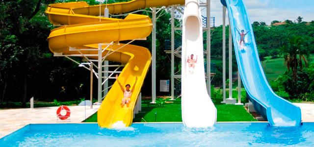 Complexo aquático no Aguativa Resort
