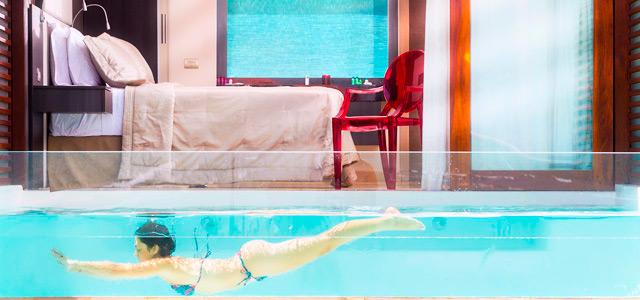 A suite tem piscina própria e uma vista imperdível