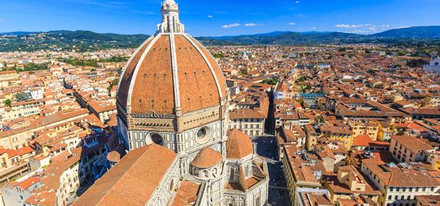 Brunelleschi, em Florença, uma das cidades italianas mais encantadoras