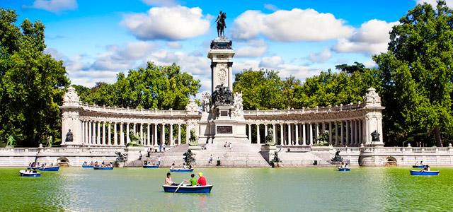 Parque do Retiro em Madri