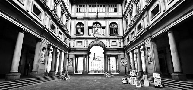 Uffizi Gallery, em Florença, a mais artística entre as cidades italianas