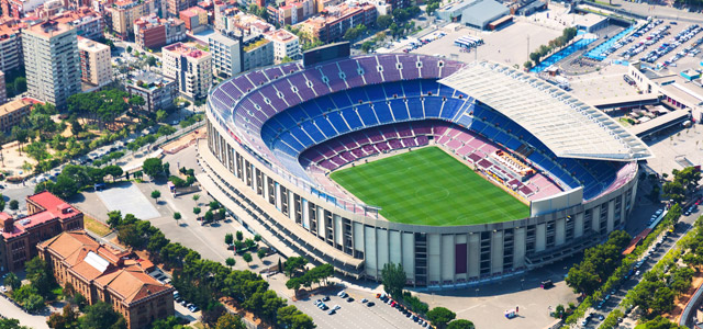Camp Nou, na cidade de Barcelona