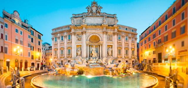 Fontana di Trevi, em Roma, uma das cidades italianas