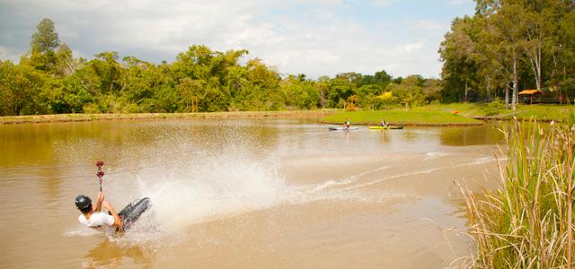 Para os adultos tem tirolesa, arvorismo etc - Terra Parque Eco Resort