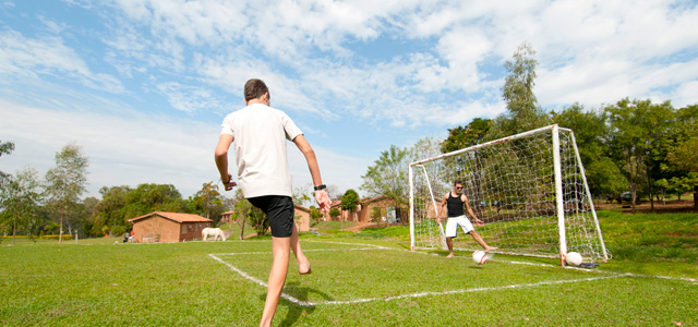 Futebol também é possível praticar no Terra Parque Eco Resort
