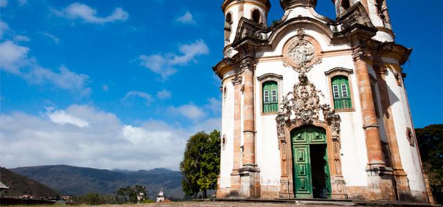 Igreja de São Francisco de Assis, na cidade de Ouro Preto