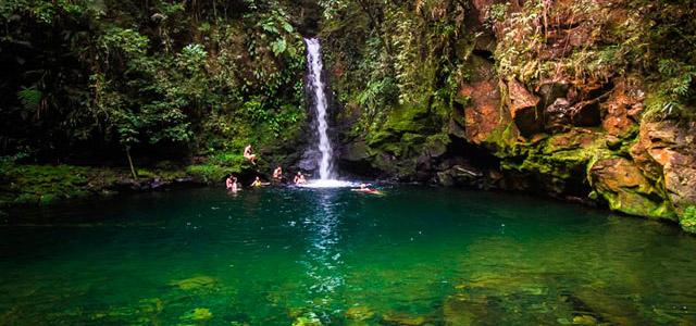 Cachoeira no Parque Estadual Lagamar