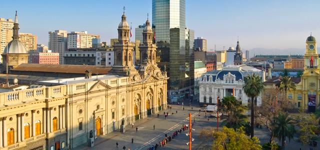 Praça de Armas, em Santiago