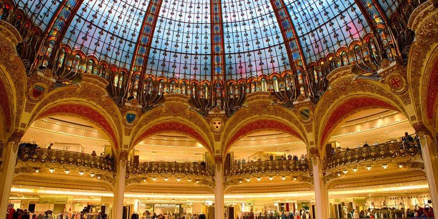 Galeries Lafayette para sonhar e Hotel Marquis Faubourg para acordar