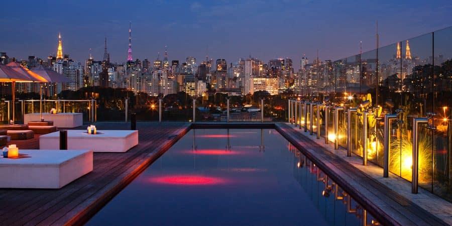 Skye Bar do Hotel Unique: Sim, há horizonte em São Paulo!