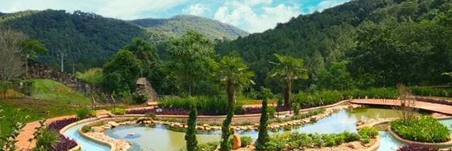 Jardim do Hotel Sant'Anna em Amparo