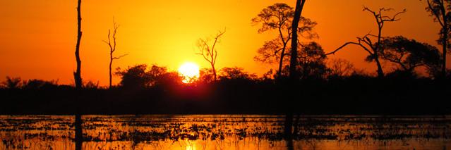 Pôr do sol - Fazenda Baia Grande