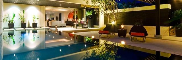 Phuket - Vista piscina e hotel The Pavilions