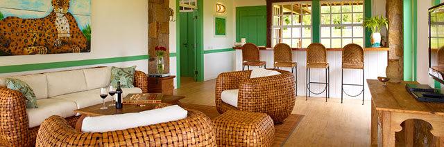 Interior quarto Lake Villas em Amparo