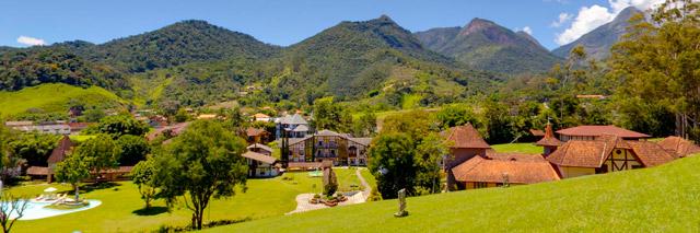 Vista do hotel Le Canton, onde se encontra o parque temático