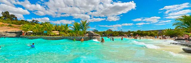 Praia do Cerrado, no Hot Park