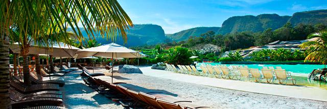 Praia do Hot Park em Goiás