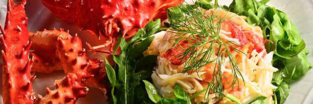 Prato preparado com frutos do mar