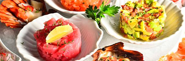 Frutos do mar preparados no Restaurante Satyricon