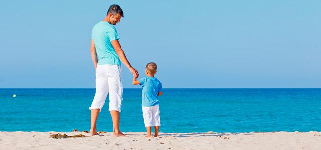 Praia de Caraguatatuba onde os pais não se precisam se preocupar com os filhos pequenos.