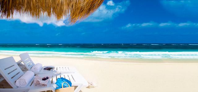 Praia de Punta Cana, para aproveitar o Reveillon
