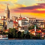 Estreito de Bósforo, em Istambul, Divide os Continentes Europeu e Asiático