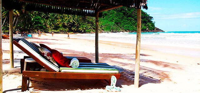 Praia de São Jose, em Itacaré. Praia de frente para o hotel