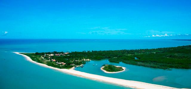 Vista aérea da Ilha