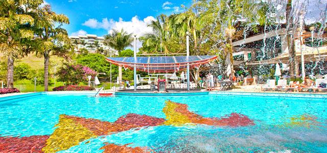 Sol, água e tranquilidade no Fazzenda Park Hotel