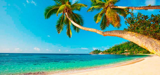 Baía Lazare, uma das praias mais belas da ilha de Seychelles