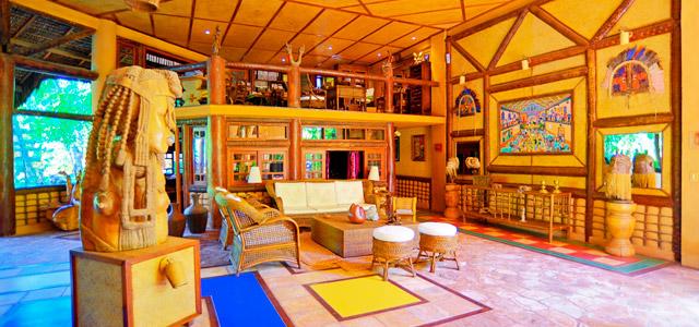 A decoração é inspirada nos costumes e crenças da África