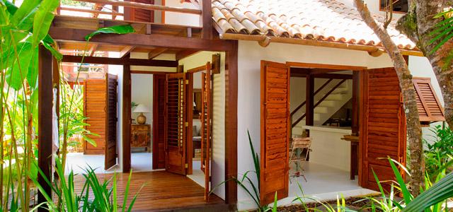 Casas espaçosas do Etnia Clube de Mar conquistam os turistas que buscam por confortáveis pousadas em Trancoso