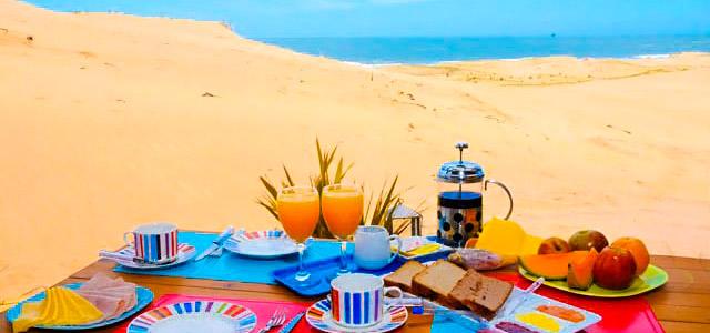 Café da manhã na praia incluso na tarifa. O hotel La Viuda del Diablo está em oferta na nossa página. Não perca essa charmosa estadia em Punta del Diablo