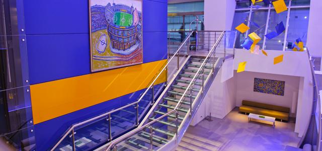 O Hotel Boca Juniors foi projetado pelo renomado arquiteto Carlos Ott e está próximo das principais atrações de Buenos Aires