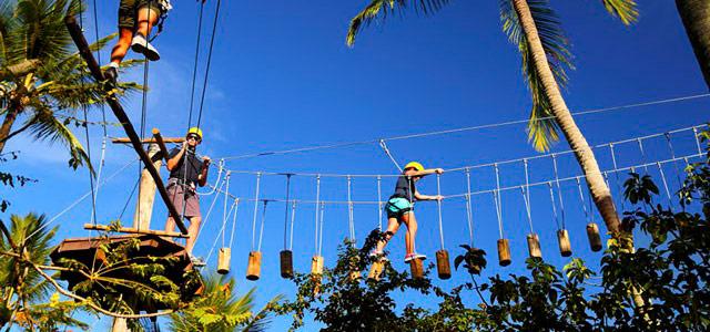 Tirolesa e outros esportes você poderá praticar durante as férias escolares