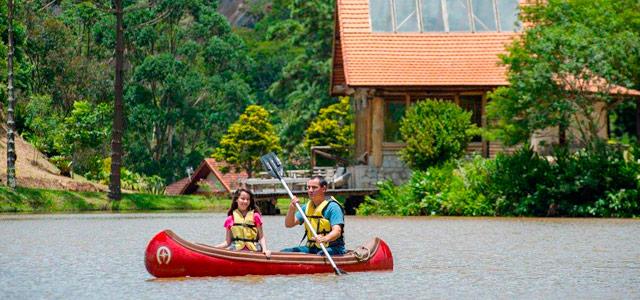 Lago de nascentes não poluídas no Hotel Fazenda Rosa dos Ventos