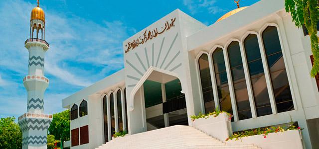 O Islamismo é a religião predominante nas na capital das Ilhas Maldivas