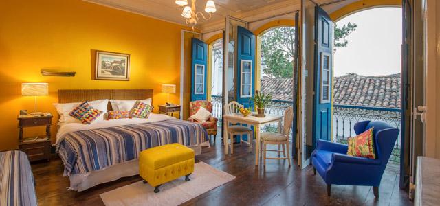 Conforto dos quartos da Pousada do Sandi