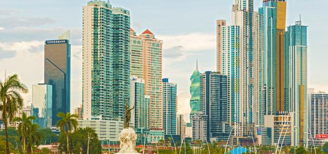 Há também pontos de luxo para compras na Cidade do Panamá